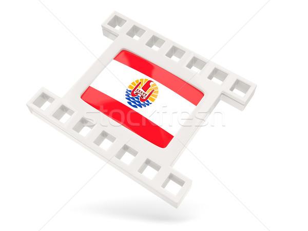Film icona bandiera francese polinesia isolato Foto d'archivio © MikhailMishchenko