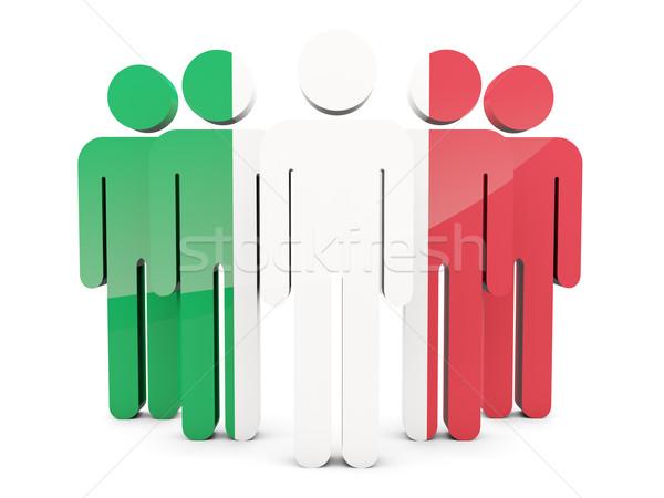 People with flag of italy Stock photo © MikhailMishchenko