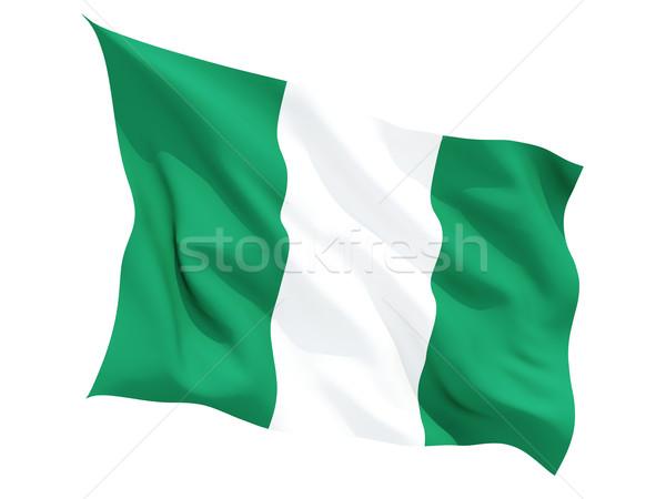 Bayrak Nijerya yalıtılmış beyaz Stok fotoğraf © MikhailMishchenko