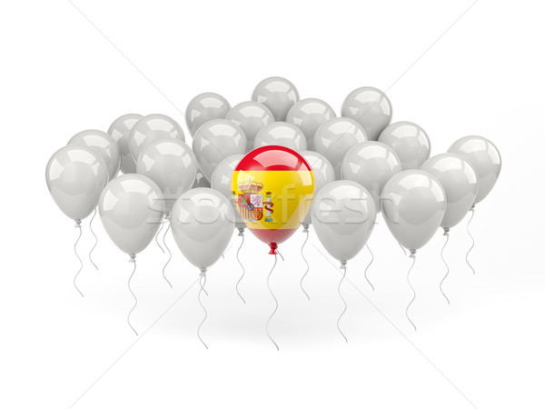 Air balloons with flag of spain Stock photo © MikhailMishchenko