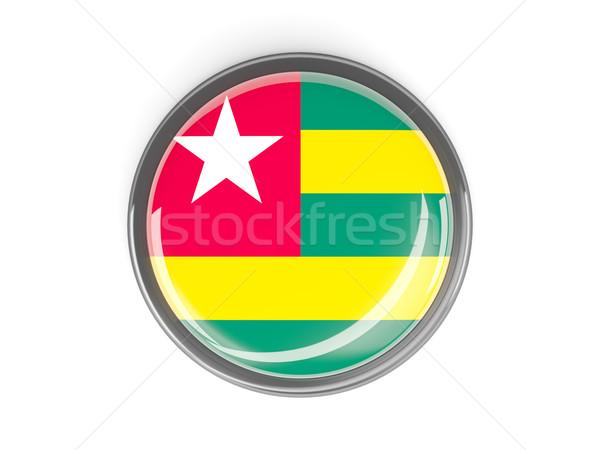 Przycisk banderą Togo metal ramki podróży Zdjęcia stock © MikhailMishchenko