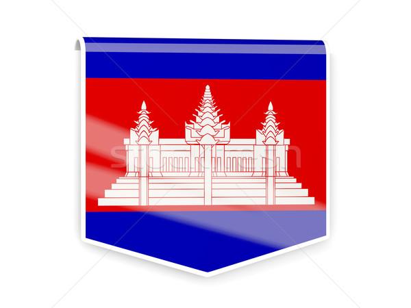 フラグ ラベル カンボジア 孤立した 白 にログイン ストックフォト © MikhailMishchenko