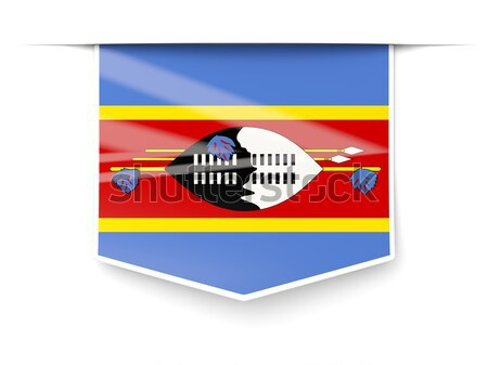 Flag label of swaziland Stock photo © MikhailMishchenko