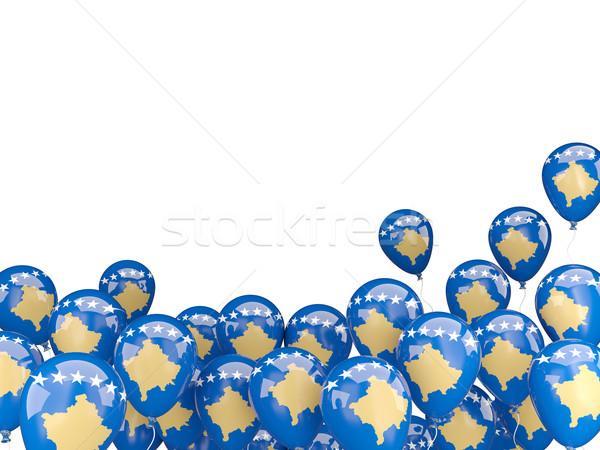 Flying balloons with flag of kosovo Stock photo © MikhailMishchenko
