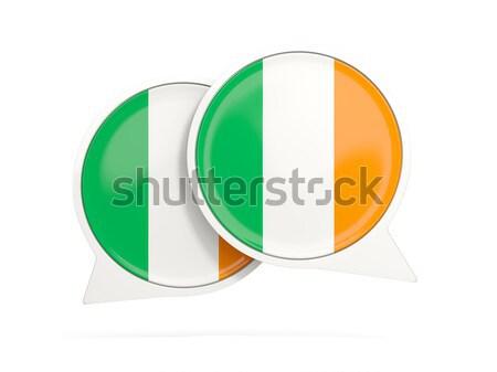 ícone bandeira Nigéria isolado branco viajar Foto stock © MikhailMishchenko