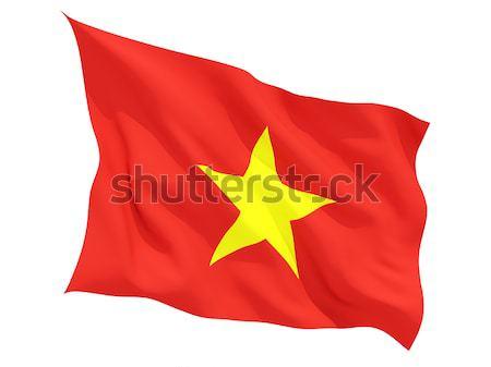 Waving flag of vietnam Stock photo © MikhailMishchenko