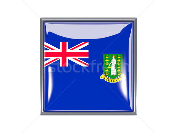 Square icon with flag of british virgin islands Stock photo © MikhailMishchenko