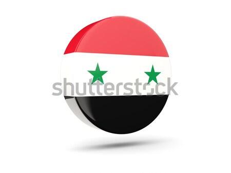 ícone bandeira Síria assinar branco Foto stock © MikhailMishchenko