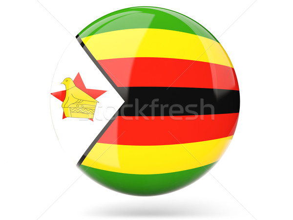 Round icon with flag of zimbabwe Stock photo © MikhailMishchenko