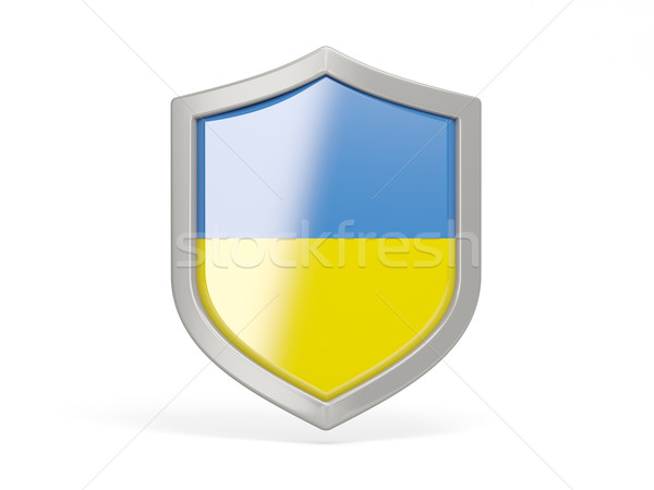 Schild icon vlag Oekraïne geïsoleerd witte Stockfoto © MikhailMishchenko