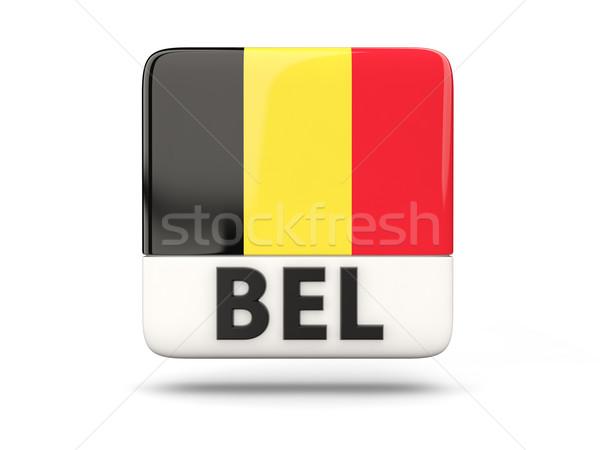 Cuadrados icono bandera Bélgica iso código Foto stock © MikhailMishchenko