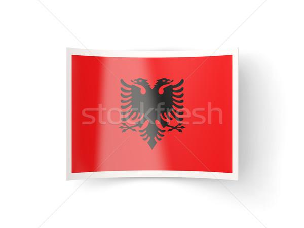Bent icon with flag of albania Stock photo © MikhailMishchenko