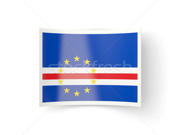 Bent icon with flag of cape verde Stock photo © MikhailMishchenko