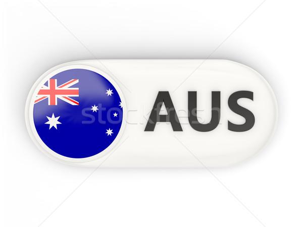 Round icon with flag of australia Stock photo © MikhailMishchenko