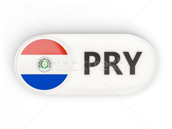 Ikona banderą Paragwaj iso kodu kraju Zdjęcia stock © MikhailMishchenko