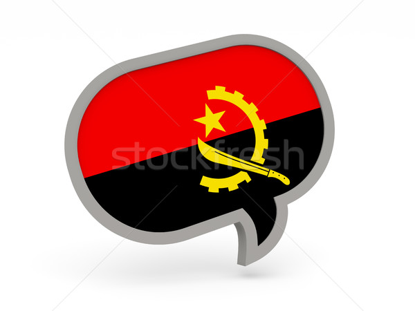 Chat icon with flag of angola Stock photo © MikhailMishchenko