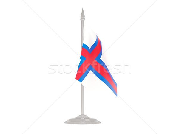 Zászló szigetek zászlórúd 3d render izolált fehér Stock fotó © MikhailMishchenko