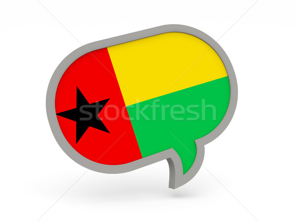 Chat icon with flag of guinea bissau Stock photo © MikhailMishchenko