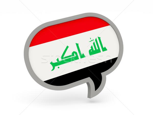 Chat icon with flag of iraq Stock photo © MikhailMishchenko
