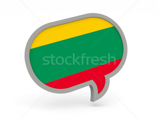 Chat icon with flag of lithuania Stock photo © MikhailMishchenko
