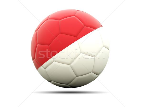 Futebol bandeira Mônaco ilustração 3d futebol esportes Foto stock © MikhailMishchenko