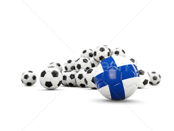 サッカー フラグ 孤立した 白 3次元の図 スポーツ ストックフォト © MikhailMishchenko