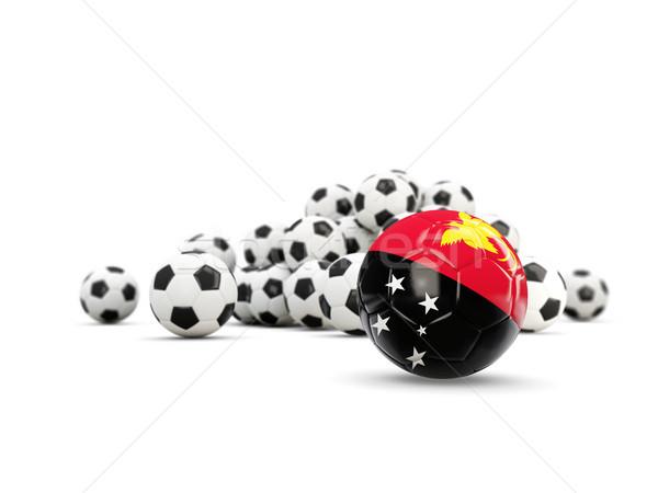 Futball zászló új izolált fehér 3d illusztráció Stock fotó © MikhailMishchenko