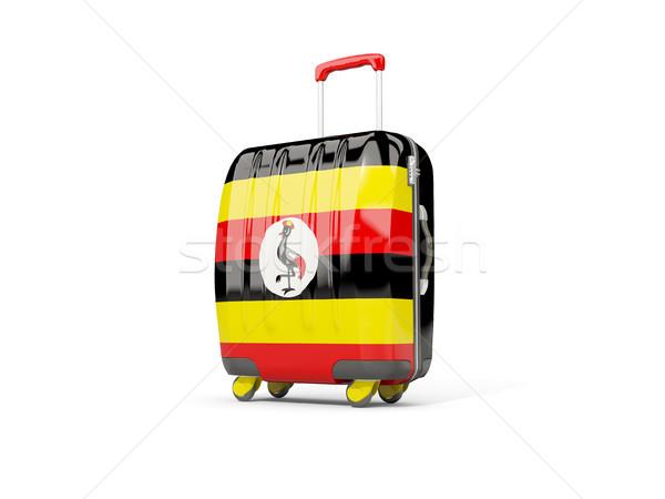 Luggage with flag of uganda. Suitcase isolated on white Stock photo © MikhailMishchenko