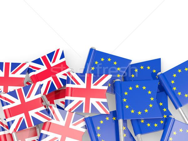 Zászló királyság EU izolált fehér 3d illusztráció Stock fotó © MikhailMishchenko