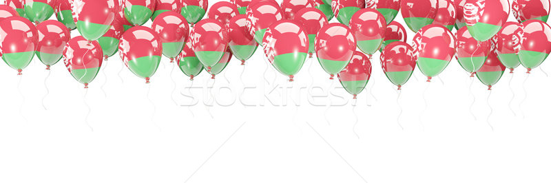 Balloons frame with flag of belarus Stock photo © MikhailMishchenko