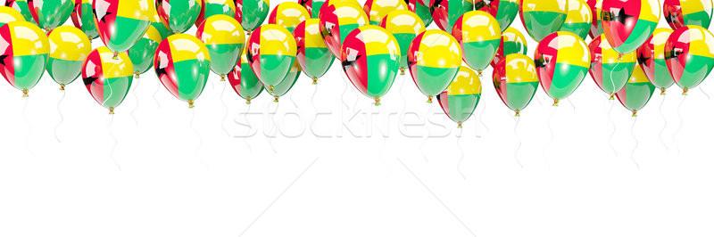 Balloons frame with flag of guinea bissau Stock photo © MikhailMishchenko