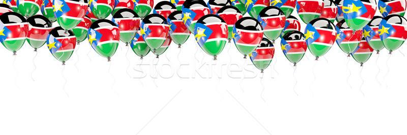 Ballonnen frame vlag zuiden Soedan geïsoleerd Stockfoto © MikhailMishchenko