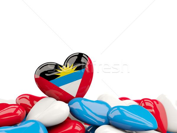 Heart with flag of antigua and barbuda Stock photo © MikhailMishchenko