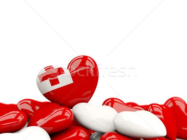 Heart with flag of tonga Stock photo © MikhailMishchenko