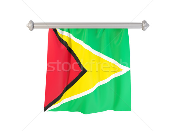 Vlag Guyana geïsoleerd witte 3d illustration label Stockfoto © MikhailMishchenko
