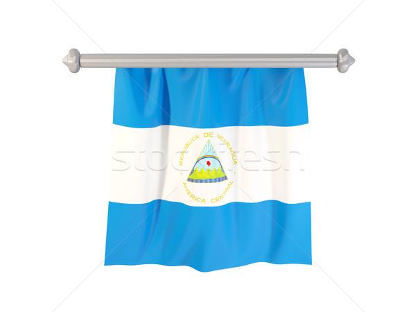 Zászló Nicaragua izolált fehér 3d illusztráció címke Stock fotó © MikhailMishchenko