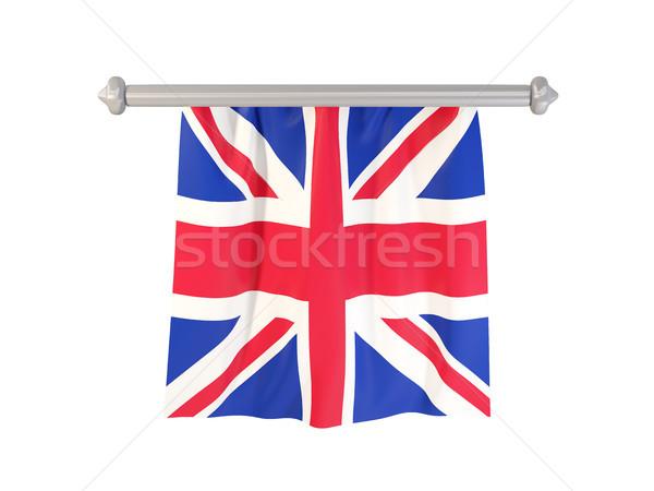 Bandiera Regno Unito isolato bianco illustrazione 3d etichetta Foto d'archivio © MikhailMishchenko