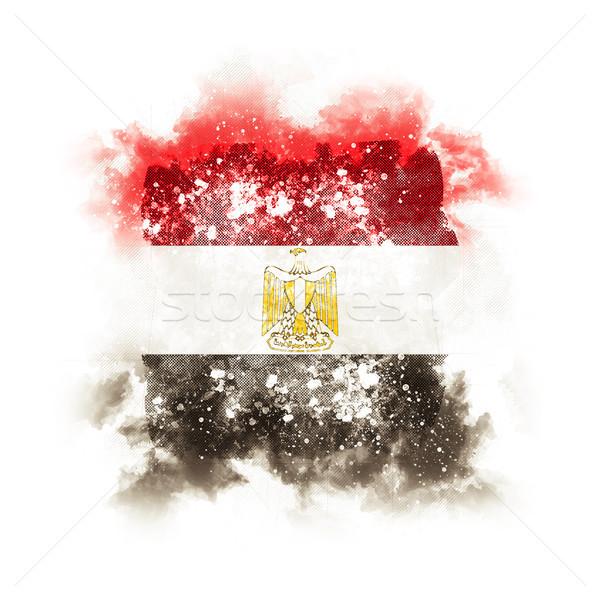 квадратный Гранж флаг Египет 3d иллюстрации ретро Сток-фото © MikhailMishchenko