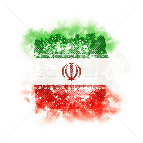 Square grunge flag of iran Stock photo © MikhailMishchenko