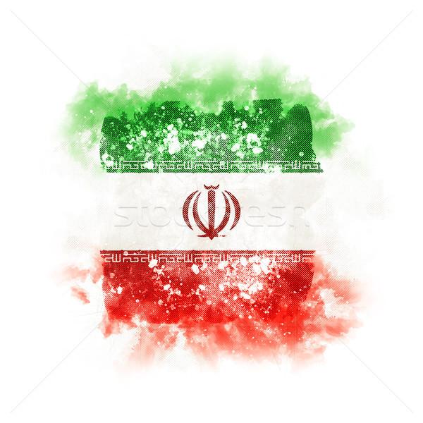Tér grunge zászló Irán 3d illusztráció retro Stock fotó © MikhailMishchenko