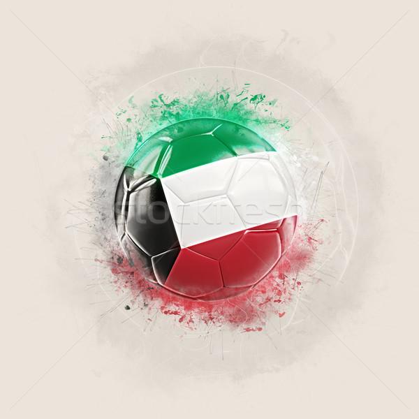 Grunge futebol bandeira Kuweit ilustração 3d mundo Foto stock © MikhailMishchenko