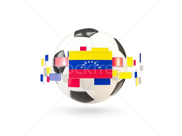 Futballabda vonal zászlók zászló Venezuela lebeg Stock fotó © MikhailMishchenko