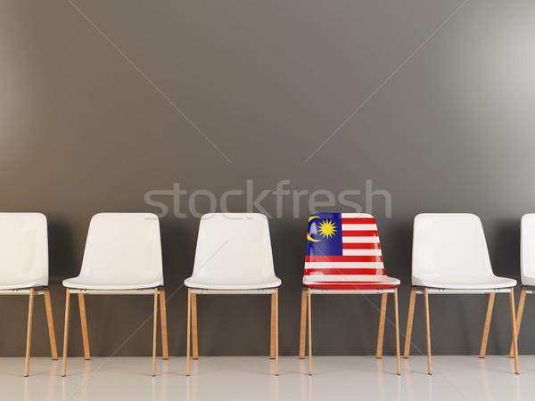 Szék zászló Malajzia csetepaté fehér székek Stock fotó © MikhailMishchenko