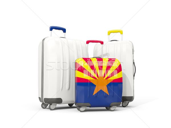 Bagagem bandeira Arizona três sacos Estados Unidos Foto stock © MikhailMishchenko