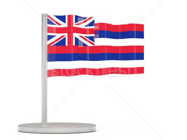 フラグ ピン ハワイ 米国 ローカル フラグ ストックフォト © MikhailMishchenko