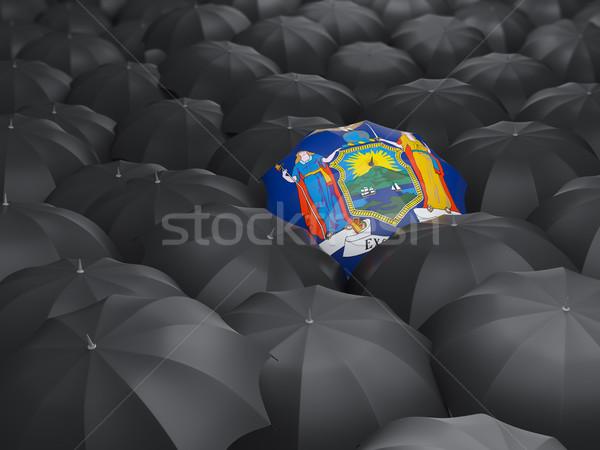 New York bandiera ombrello Stati Uniti locale bandiere Foto d'archivio © MikhailMishchenko
