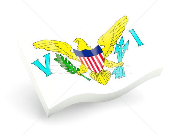 3D bandiera Virgin Islands isolato bianco viaggio Foto d'archivio © MikhailMishchenko