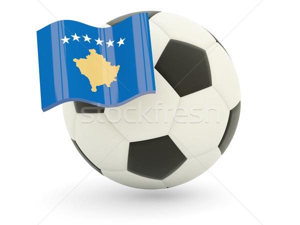 Football with flag of kosovo Stock photo © MikhailMishchenko