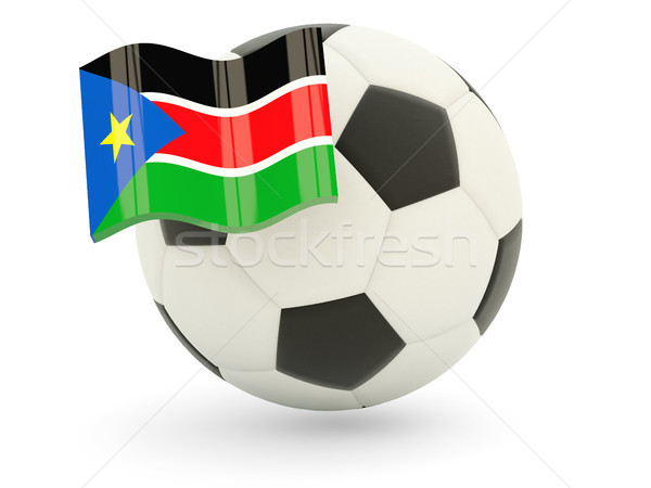 Football with flag of south sudan Stock photo © MikhailMishchenko
