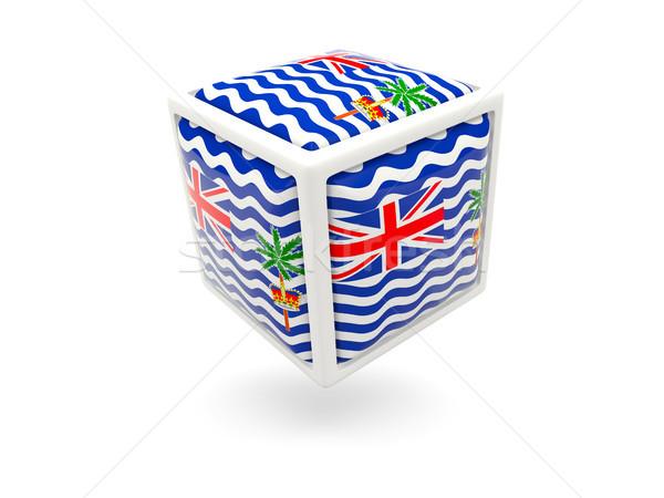 Flag of british indian ocean territory. Cube icon Stock photo © MikhailMishchenko
